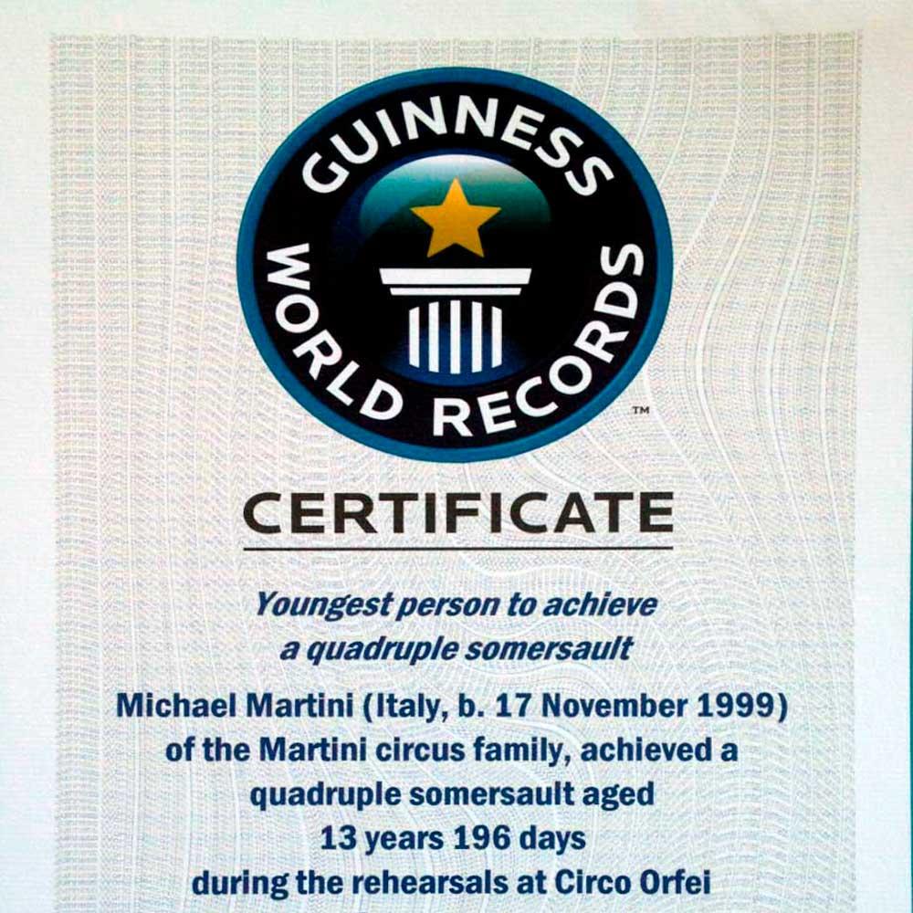 Read more about the article Michael Martini entra nella leggenda del guinness world record