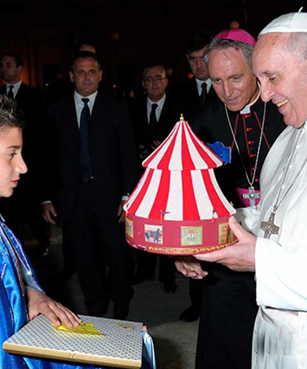 Micheal Martini con Papa Francesco