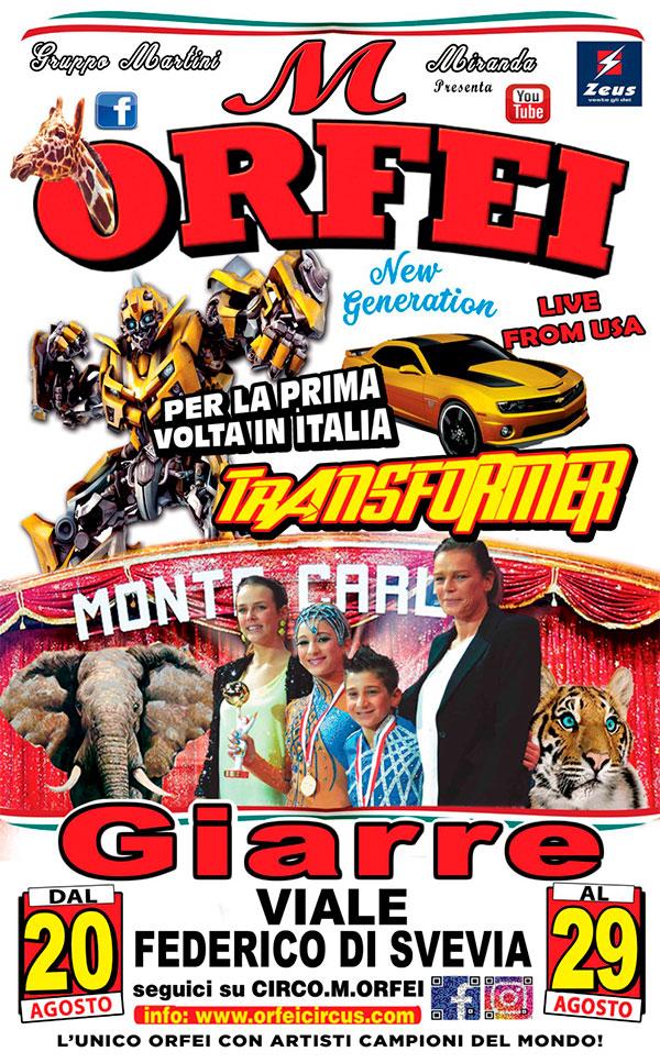 Read more about the article Il Grande Circo M. Orfei fa tappa a GIARRE