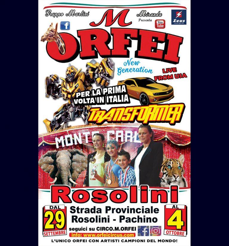 Read more about the article Il Grande Circo M. Orfei fa tappa a Rosolini